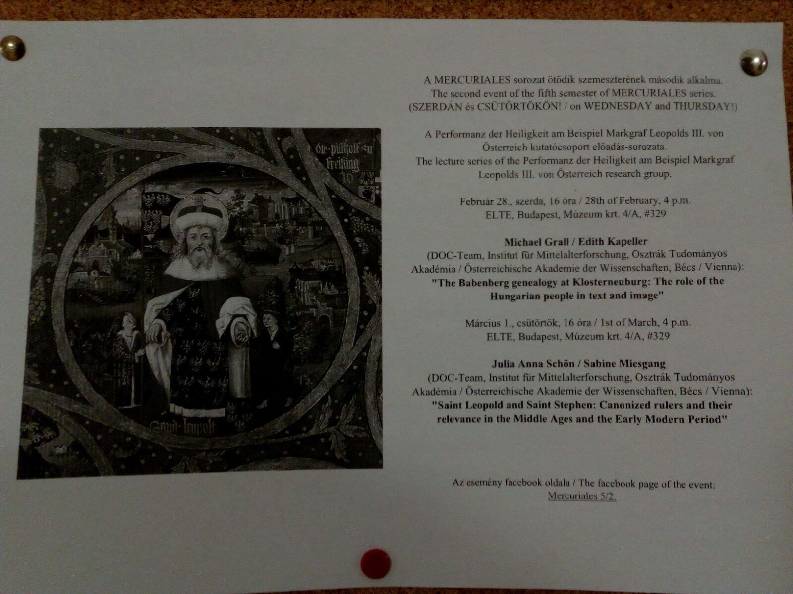 Vortrag in Budapest - Einladung