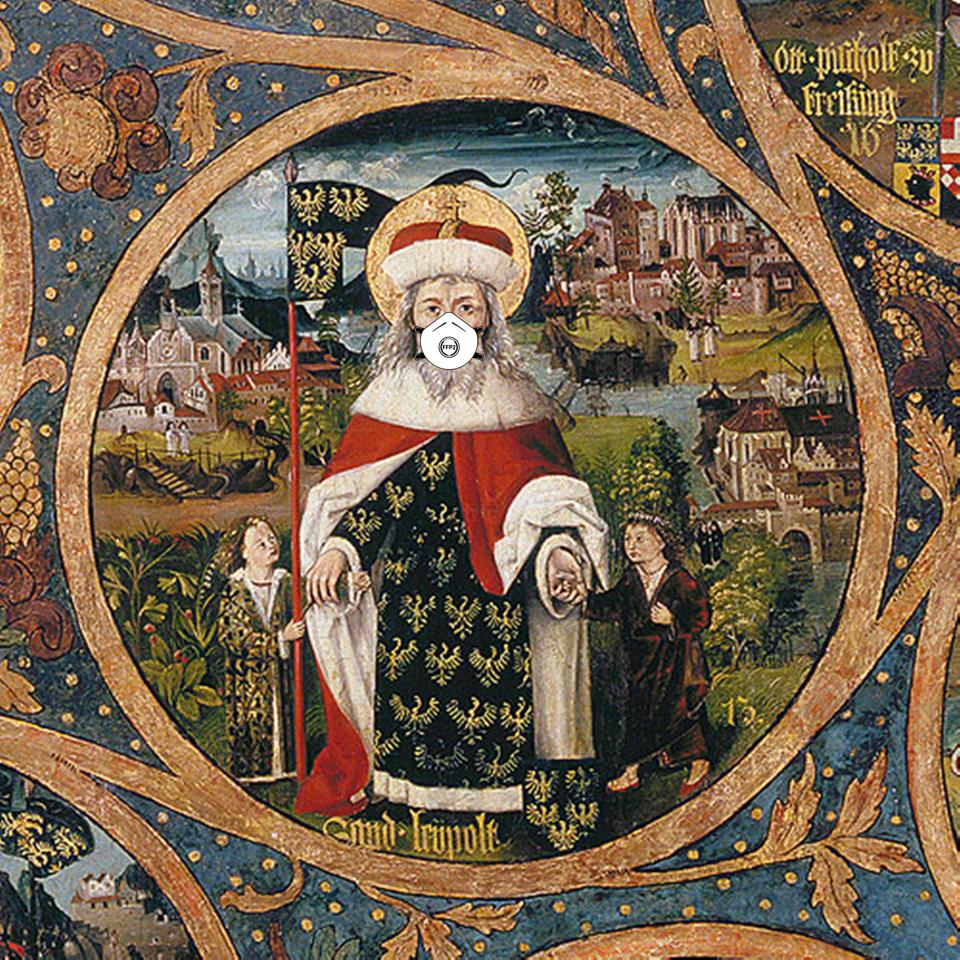 Der Heilige Leopold mit Maske